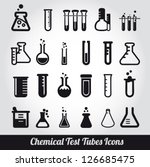 chemical test tubes icons... | Shutterstock .eps vector #126685475