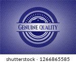 genuine quality emblem with... | Shutterstock .eps vector #1266865585