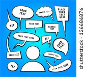 vector doodle speech bubbles. | Shutterstock .eps vector #126686876