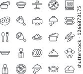 thin line icon set   spoon and... | Shutterstock .eps vector #1266873175