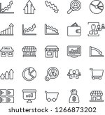 thin line icon set   shop... | Shutterstock .eps vector #1266873202