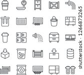 thin line icon set   trash bin... | Shutterstock .eps vector #1266873265