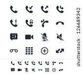 telephone icons | Shutterstock .eps vector #126689342