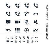 telephone icons | Shutterstock .eps vector #126689342