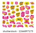 sale banner. super mega... | Shutterstock .eps vector #1266897175