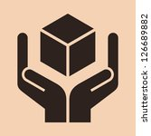 handle with care sign   packing ... | Shutterstock .eps vector #126689882