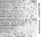 halftone black and white radial ... | Shutterstock .eps vector #1266902788