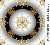 golden textile print. golden... | Shutterstock . vector #1266913132