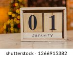 new year 2019 decoration in...   Shutterstock . vector #1266915382