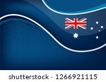 australia flag color background ... | Shutterstock .eps vector #1266921115