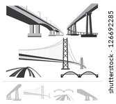 Set Of Bridges  Vector...