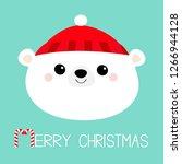 merry christmas. polar white... | Shutterstock .eps vector #1266944128