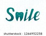 handmade lettering .vector...   Shutterstock .eps vector #1266952258