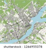vector map of the city of...   Shutterstock .eps vector #1266955378