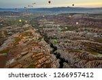 turkey  cappadocia  ballooning | Shutterstock . vector #1266957412