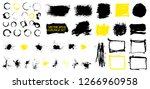 grunge set. detailed textures.... | Shutterstock .eps vector #1266960958