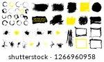 grunge set. detailed textures.... | Shutterstock .eps vector #1266960958