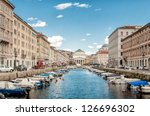 Canal Grande In Trieste  Italy