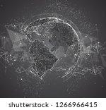 vector globe  planet earth ... | Shutterstock .eps vector #1266966415