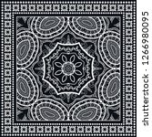 decorative mandala geometric... | Shutterstock .eps vector #1266980095