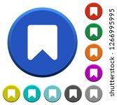 bookmark round color beveled... | Shutterstock .eps vector #1266995995
