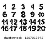 set funny number silhouettes ... | Shutterstock .eps vector #1267013992