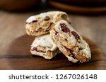 homemade nougat bar with... | Shutterstock . vector #1267026148