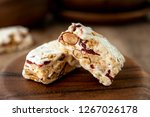homemade nougat bar with... | Shutterstock . vector #1267026178