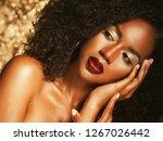 young elegant african american...   Shutterstock . vector #1267026442