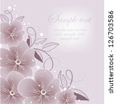 wedding card or invitation with ... | Shutterstock .eps vector #126703586