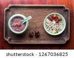 health porridge in the soup of... | Shutterstock . vector #1267036825