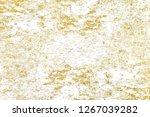 gold splashes texture. brush...   Shutterstock . vector #1267039282