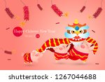 happy chinese new year with... | Shutterstock .eps vector #1267044688