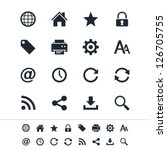 web icons | Shutterstock .eps vector #126705755