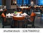 indoor restaurant night view | Shutterstock . vector #1267060012