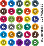 white solid icon set ... | Shutterstock .eps vector #1267082812