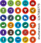 white solid icon set  award cup ... | Shutterstock .eps vector #1267083775