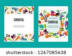 vector illustration with... | Shutterstock .eps vector #1267085638