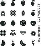 solid black vector icon set  ... | Shutterstock .eps vector #1267087375