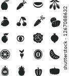 solid black vector icon set  ... | Shutterstock .eps vector #1267088632