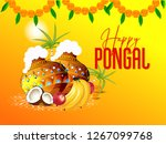 illustration of happy pongal... | Shutterstock .eps vector #1267099768