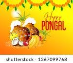 illustration of happy pongal... | Shutterstock .eps vector #1267099768