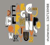 english alphabet vector ... | Shutterstock .eps vector #1267130488