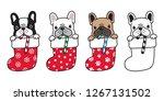 dog vector french bulldog...   Shutterstock .eps vector #1267131502