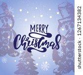 merry christmas vector text... | Shutterstock .eps vector #1267134382
