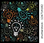 colorful light bulbs background | Shutterstock . vector #126714182
