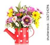 beautiful bouquet of bright... | Shutterstock . vector #126714296
