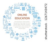 e learning distance education... | Shutterstock .eps vector #1267143472