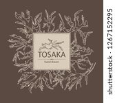 background with tosaka ... | Shutterstock .eps vector #1267152295
