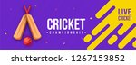 live cricket banner or poster... | Shutterstock .eps vector #1267153852